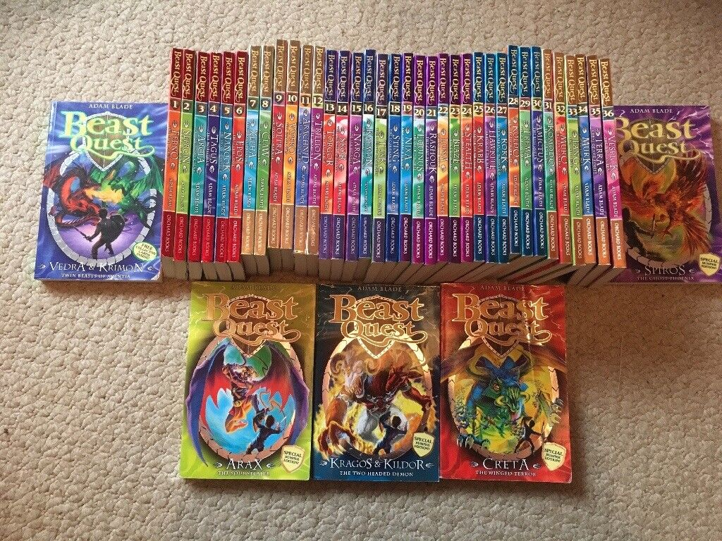 Set of beast quest books