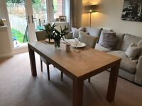 Furniture Village OAK Veneer Dinning Room Table