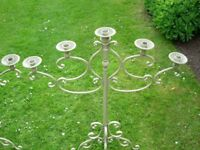 2 large metal candelabra for weddings, functions exc.