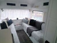 Stunning 2berth shabbychic vintage caravan with Isabella awning