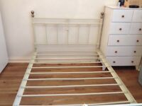 Double Metal Bedframe - Antique Style
