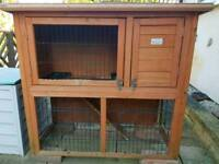Bunny Business Double Decker Rabbit; Guinea Pig Hutch, 41-inch