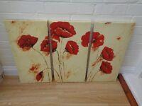 Poppy canvases set of 3