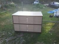 Vintage plans chest