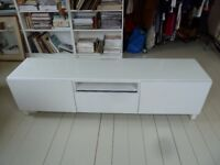 IKEA TV/ MEDIA stand/cabinet in white 180cm long 48cm high perfect condition