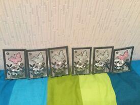 6 Butterfly tealight holders