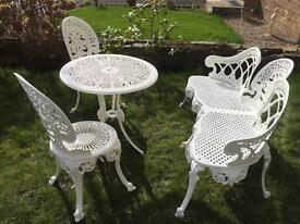 Bench table & chairs garden set
