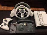 XBOX MC2 RACING WHEEL +CONTROLLER +HD DVD PLAYER +REMOTE