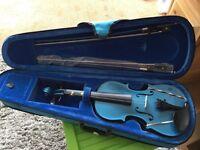 Child's Archetto violin turquoise