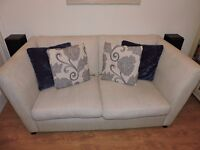 DFS Cream 2.5 Seater Sofa with Cushions