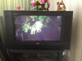 "JVC 28"" colour widescreen interiart television, with full remote control."
