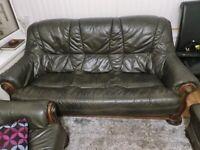 Italian leather 3+2 seater