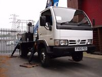 Nissan Cabstar Oil & Steel cherry picker MEWP Access platform