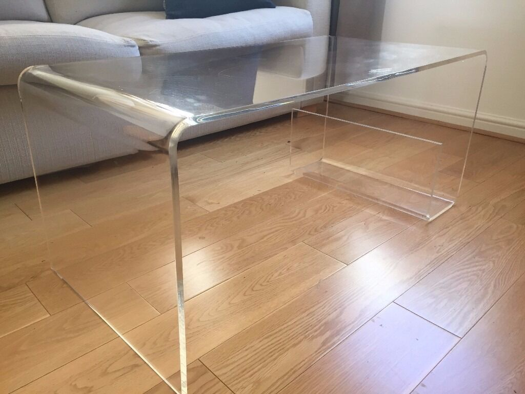 muji acrylic coffee table in st albans hertfordshire gumtree. Black Bedroom Furniture Sets. Home Design Ideas