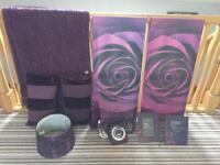 Purple bedroom accesdories