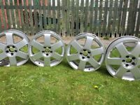 "Audi Ronal 17"" Alloy Wheels. All clean & straight, no bends or buckles."