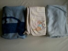 Four Assorted Baby/Child Blanket Bundle.