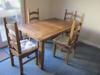 CORONA DINING TABLE AND CHAIRS