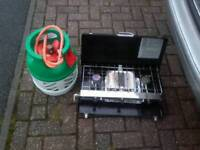 camping cooker and has bottle hose