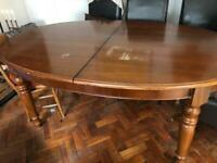 Dining table FREE and 6 leather chairs