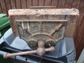 VINTAGE RECORD No 52 1/2 QUICK RELEASE ENGINEERS BENCH VICE.