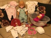 BabyBorn Doll Zapf Creation with clothes and accessories