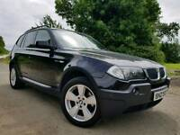 2005 BMW X3 2.0d SE 163bhp 4x4, Lovely Example! Full M Sport Leather! MOT'D NOVEMBER 2018! FINANCE!