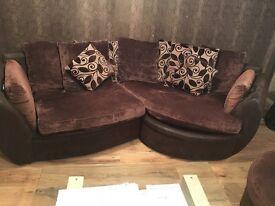 Brown comfty sofa