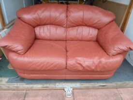 """Leather sofa settee 5ft 6"""" wide"""