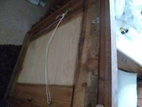 Rustic / shabby chic /anitque style wall mounted wooden mirror