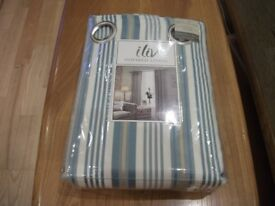 ONE PAIR OF BRAND NEW LINED CURTAINS WITH EYELET HEADING,66X90