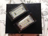 Bmw E46 number plate LED lights