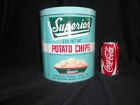 Vintage Detroit Potato Chip Tin