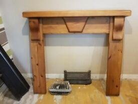fireplace cast iron inset and surround inc accesories