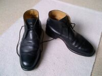Men's all-leather boots, black, UK size 9, made by R.M. Williams of Australia