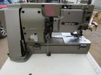 Brother Industrial lockstitch button hole sewing machine.