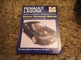 Haynes Manual Renault Laguna Feb 2001-Feb 2005 (X-54 reg) - 4283