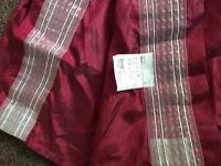 Taffeta full length curtains- red- from Ikea