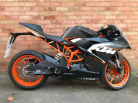 KTM RC 125 BLACK 2016 SPARES OR EXPORT TRACK BIKE