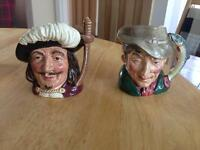 Royal Doulton Toby Jugs Small x2 Collectibles