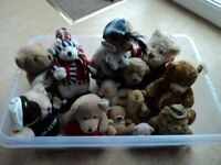 Job lot of teddy bears small to medium size collect only