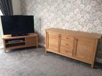 Next Oak Sideboard & TV Corner Unit (Matching)