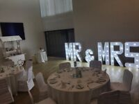 Mr & mrs LED light up letters white stunning £100 all day hire ❤️