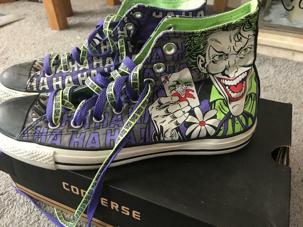 f29dcd2d8b4744 DC Batman and Joker Converse- Adult Size 9