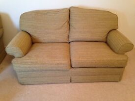 AVAILABLE SEPARATELY Settee, sofa bed, chair and stool, RECENTLY RE-COVERED, Great condition
