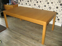 Ikea Bjursta Large Extendable Oak Veneer Dinning Table, Nice Big Table, Seats up to 12