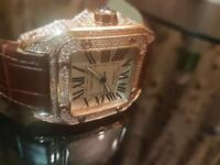 CARTIER SANTOS 100 XL ULTIMATE SWAROVSKI EDITION, LIMITED ROSE GOLD EDITION