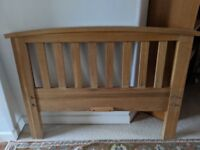 Oak Single Bed - Great condition with fittings