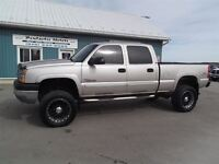 2005 Chevrolet SILVERADO 2500HD LS,DIESEL,CREW,4X4,LIFTED,LEATHE