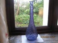 BEAUTIFUL BLUE GLASS ART-DE-CO BOTTLE